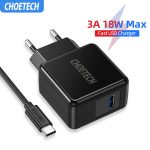 CHOETECH_Fast_Charge_3_0_18W_USB_Wall_Charger_For_iPhone_XR_XS_X_8_8